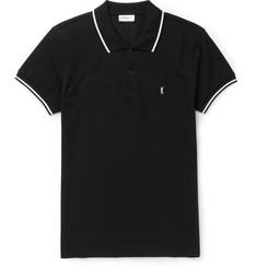 Saint Laurent Slim-Fit Contrast-Tipped Cotton-Piqué Polo Shirt