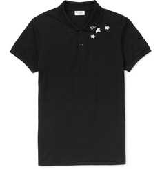 Saint Laurent - Slim-Fit Printed Cotton-Piqué Polo Shirt