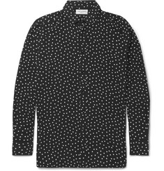 Saint Laurent Polka-Dot Voile Shirt