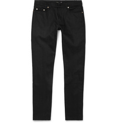Saint Laurent Skinny-Fit 17cm Hem Raw Stretch-Denim Jeans