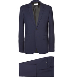 Saint Laurent - Navy Slim-Fit Virgin Wool-Gabardine Suit