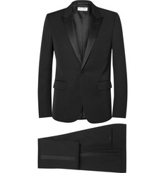 Saint Laurent Black Slim-Fit Silk-Trimmed Virgin Wool Tuxedo
