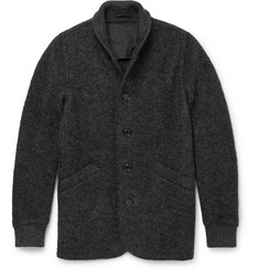Aspesi Slim-Fit Boiled Wool-Blend Cardigan