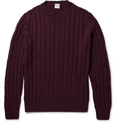 Aspesi Cable-Knit Mélange Wool Sweater