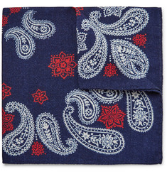 Alex Mill Printed Wool-Twill Pocket Square