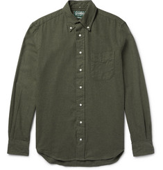 Gitman Vintage - Slim-Fit Button-Down Collar Cotton-Flannel Shirt