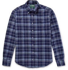 Gitman Vintage Slim-Fit Checked Cotton-Flannel Shirt