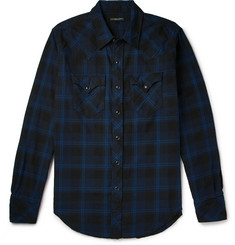 Engineered Garments Plaid Brushed-Cotton Shirt