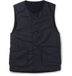 Engineered Garments Melton Reversible Ripstop and Wool Gilet