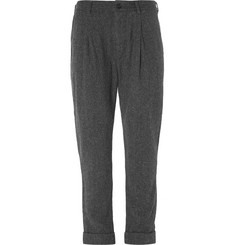 Engineered Garments Willy Herringbone Pleated Wool Trousers