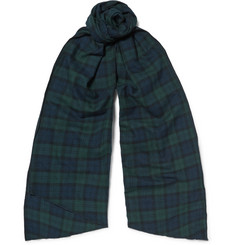 Engineered Garments - Checked Brushed Cotton-Flannel Scarf