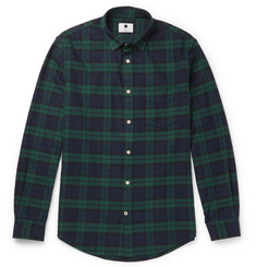 NN07 Dexter Slim-Fit Checked Cotton-Flannel Shirt