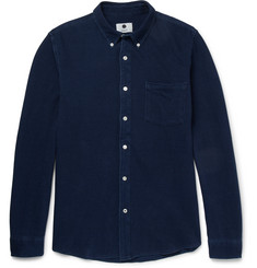 NN07 Falko Button-Down Collar Cotton-Piqué Shirt