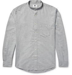 NN07 Devon Slim-Fit Grandad-Collar Cotton-Flannel Shirt