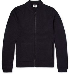 NN07 Jake Boiled Wool Zip-Up Cardigan