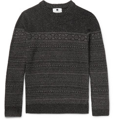 NN07 Tony Wool-Blend Fair Isle Sweater