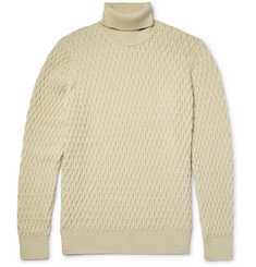 NN07 Andreas 6103 Honeycomb-Knit Wool Rollneck Sweater