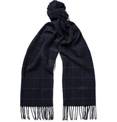 NN07 Checked Wool and Cashmere-Blend Scarf