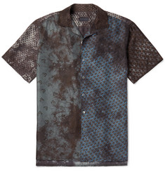 Lanvin Camp-Collar Printed Silk Shirt