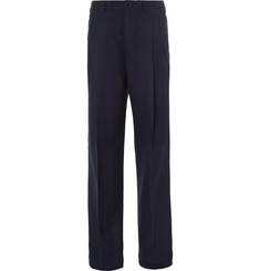Lanvin Wide-Leg Pleated Wool Trousers