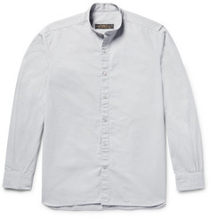 Freemans Sporting Club Grandad-Collar Cotton-Ripstop Shirt