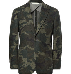 Freemans Sporting Club Havana Slim-Fit Unstructured Camouflage Wool-Blend Jacquard Blazer