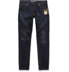 Dolce & Gabbana Slim-Fit Embroidered Denim Jeans