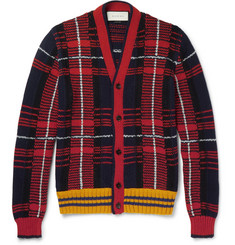 Gucci - Checked Wool and Alpaca-Blend Cardigan