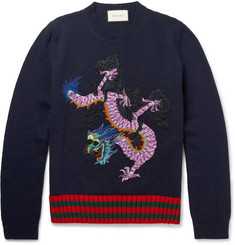 Gucci Appliquéd Wool Sweater