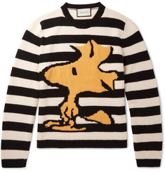 Gucci Intarsia Striped Wool Sweater