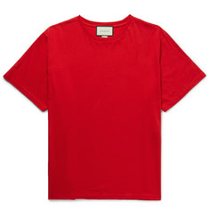 Gucci Oversized Distressed Cotton-Jersey T-Shirt