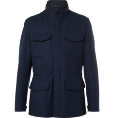 Ermenegildo Zegna Water-Resistant Trofeo Wool and Cashmere-Blend Jacket