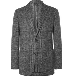 Ermenegildo Zegna Grey Slim-Fit Checked Brushed Alpaca-Blend Blazer