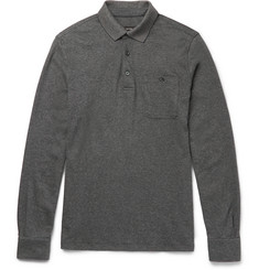 Ermenegildo Zegna Slim-Fit Mélange Cotton Polo Shirt