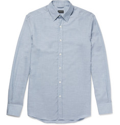 Ermenegildo Zegna - Cotton and Cashmere-Blend Shirt