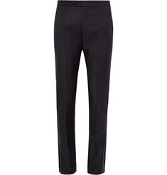 Maison Margiela Slim-Fit Satin-Trimmed Wool and Mohair-Blend Twill Trousers