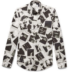 Maison Margiela Slim-Fit Printed Cotton-Poplin Shirt