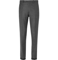 Maison Margiela Slim-Fit Checked Wool Trousers