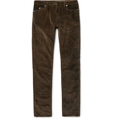 Maison Margiela Slim-Fit Stretch-Cotton Corduroy Trousers
