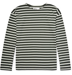 - MHL Striped Cotton-Jersey T-Shirt