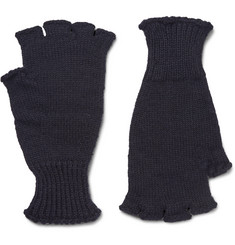 Margaret Howell MHL Ribbed Wool Fingerless Gloves