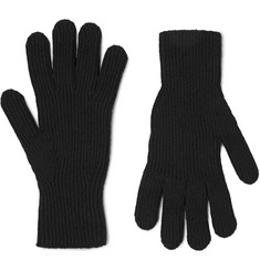 Margaret Howell Ribbed Merino Wool and Cashmere-Blend Gloves