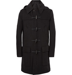 AMI Wool-Blend Hooded Duffle Coat