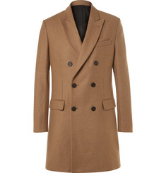 AMI Slim-Fit Double-Breasted Wool-Blend Coat