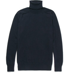 AMI Wool and Cashmere-Blend Rollneck Sweater