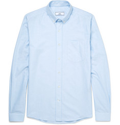 AMI Slim-Fit Button-Down Collar Striped Cotton Oxford Shirt