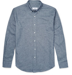 AMI Button-Down Collar Cotton Oxford Shirt