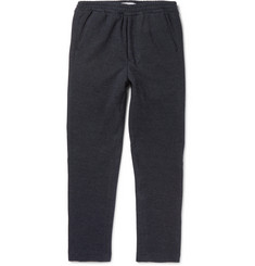 AMI - Tapered Herringbone Cotton-Blend Sweatpants