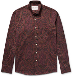 Our Legacy Slim-Fit Paisley-Print Cotton-Flannel Shirt