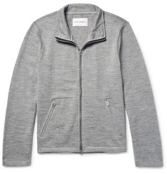 Our Legacy Mélange Wool Zip-Up Cardigan